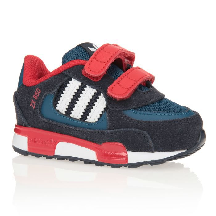 adidas baskets zx 850 chaussures b b gar on noir marine et rouge achat vente basket. Black Bedroom Furniture Sets. Home Design Ideas