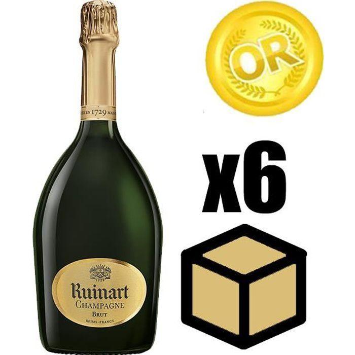X6 Ruinart Brut 75 cl Champagne