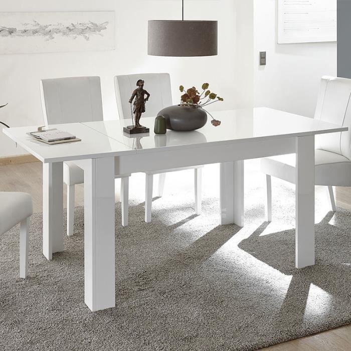 Table à manger 180 extensible design blanche URBAN Blanc L 228 x P 90 x H 79 cm
