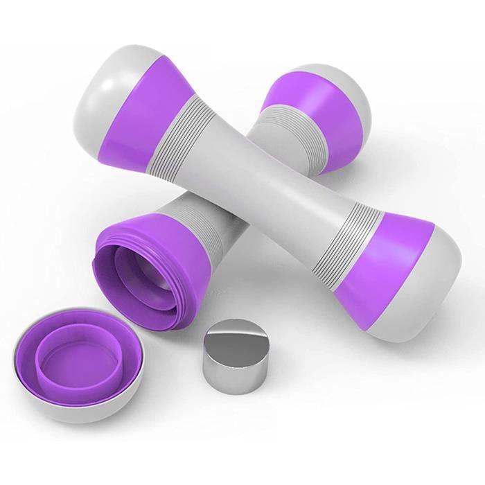 Haltere Reglable, Haltere Automatique, Alteres Musculation Femme 2kg X 2, Haltères Réglables pour Fitness, Gym, Pilates, Entraînemen
