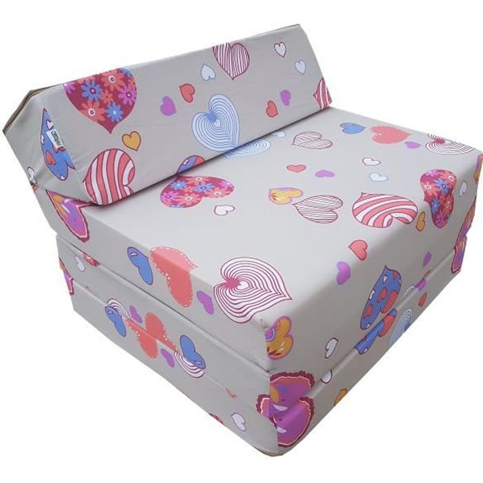 Matelas lit fauteuil futon pliable pliant choix des couleurs - longueur 200 cm (C901)