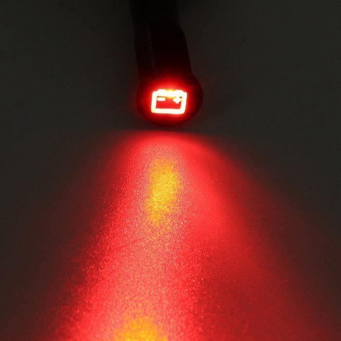 12V 16mm Etanche LED Ampoule Feux Avertissement de Voiture Universal ROUGE 1 Sh70223