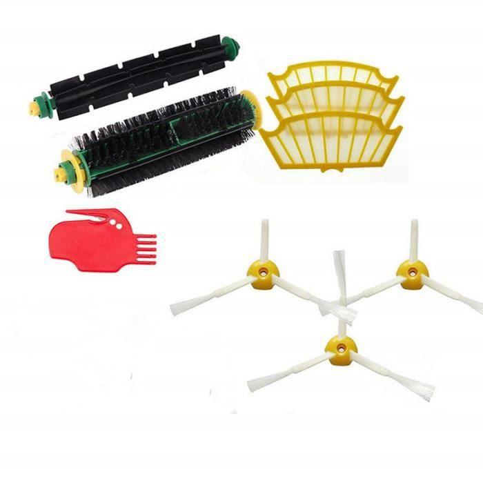 Kit de recharges pour Roomba série 500 (505, 521, 510, 530, 531, 532, 534, 535, 545, 550, 552, 555, 560, 562, 564, 570, 570 PET, 571