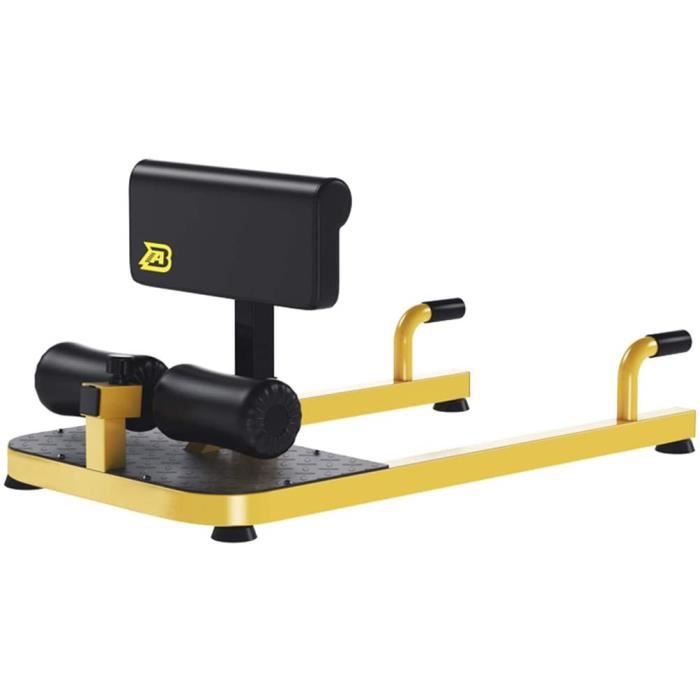BANC DE MUSCULATION Lxn Jaune 3en1 rembourreacute Push Up Sit Up Profonde Sissy Squat Machine Home Gym Fitness Equipment Hanches238