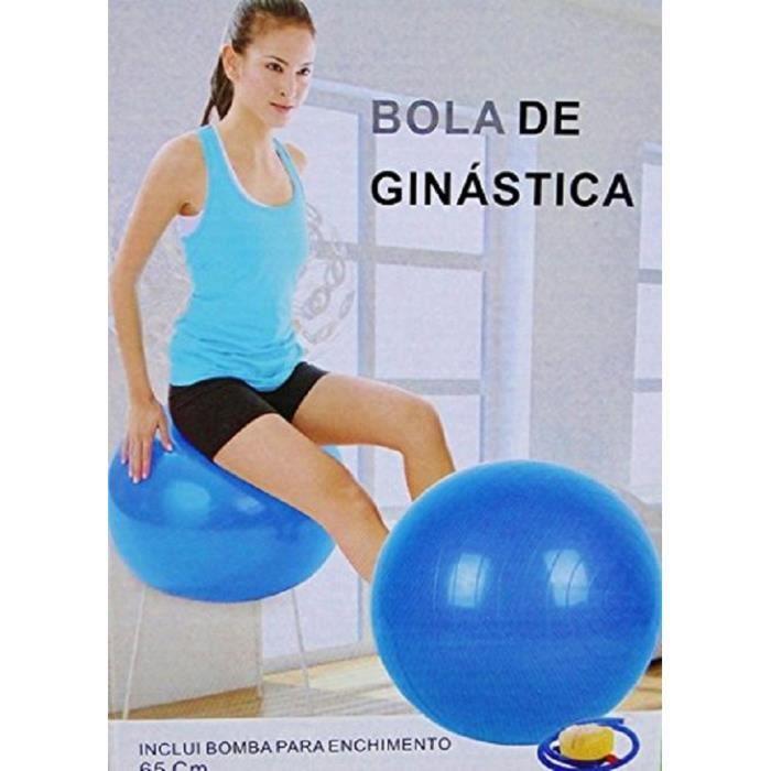 Ballon de fitness gymnastique exercices de grossesse 65cm avec pompe de gonflage
