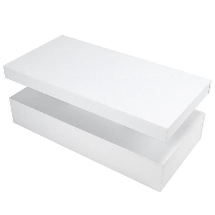 table basse LED Table basse à haute brillance blanche de sofa de table avec des lumières de LED pour la chambre à coucher de