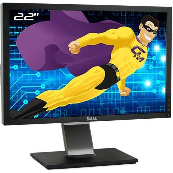 Ecran Plat PC 22- DELL P2210t P2210f TFT TN VGA DVI-D Display 4xUSB 16:10 VESA