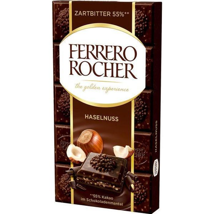 Ferrero Rocher Noisette chocolat noir 90g (Pack de 8)