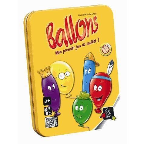 Jeu de cartes Ballons (boîte métal)