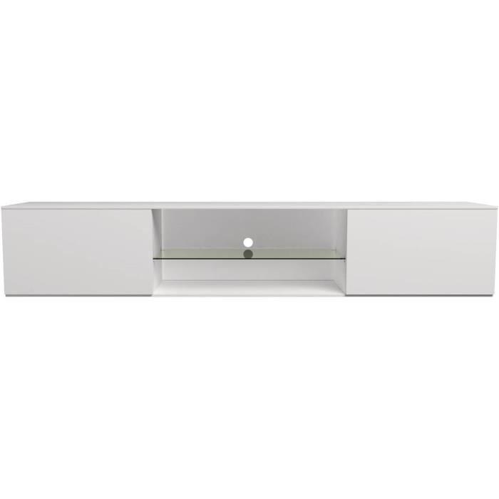 Meuble TV -Louna- - 165 cm - Blanc