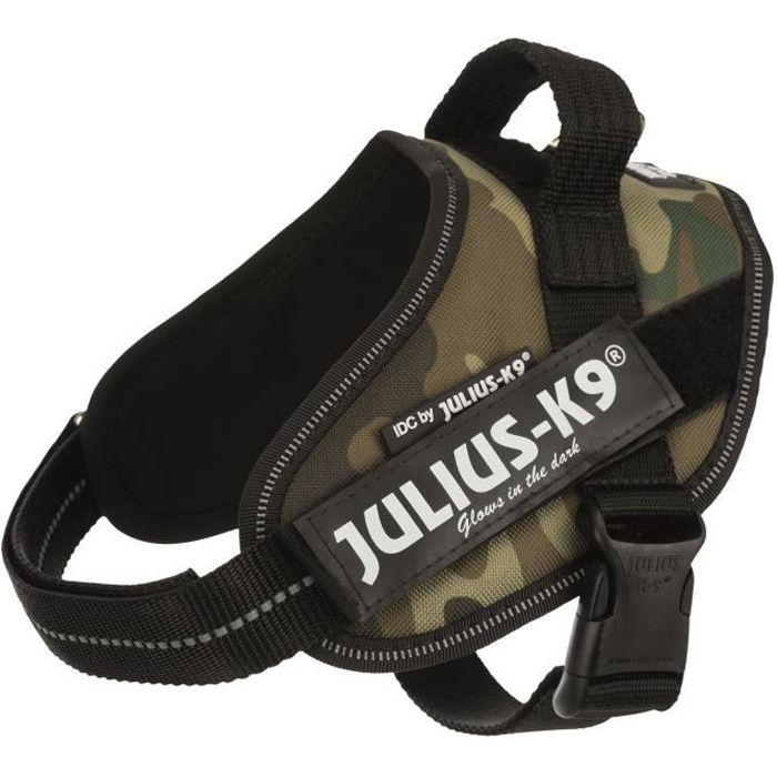 JULIUS K9 Harnais Power IDC Mini-Mini–S : 40–53 cm - 22 mm - Camouflage - Pour chien