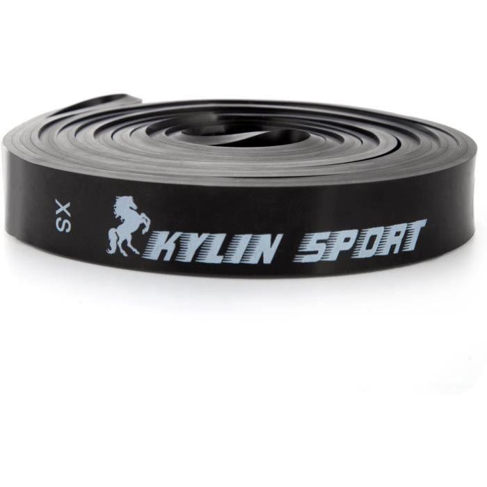 KYLIN SPORT Bande Elastique de Résistance Bande Latex de Yoga pour Musculation Crossfit(Noir 25-65LB)