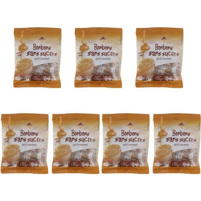 [Lot de 7 ] Bonbons sans sucre goût caramel - 120g par paquet