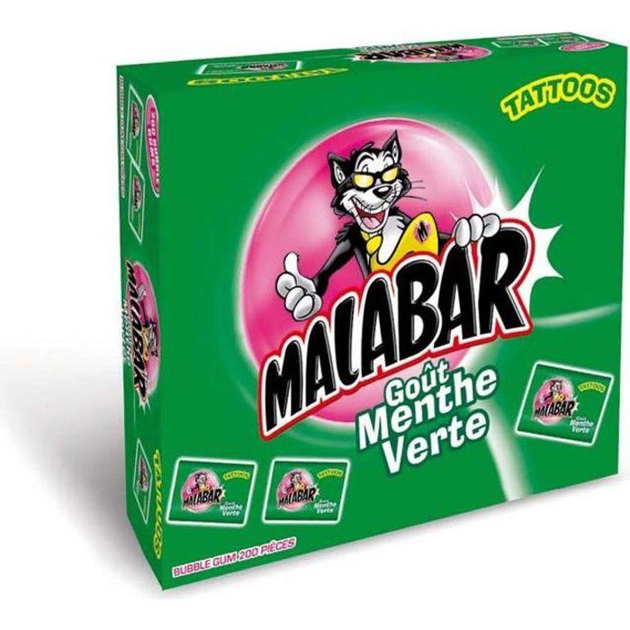 MALABAR Boîte de Chewing-gum à la Menthe verte - 200 pièces