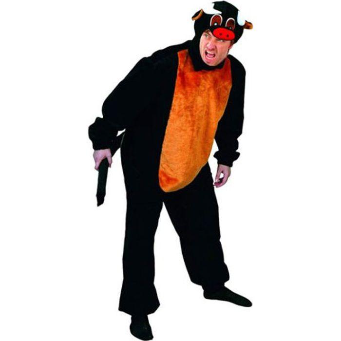 Costume homme déguisement adulte Taureau - Noir & Orange