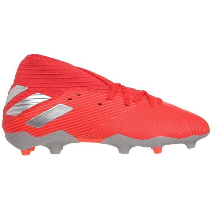 ADIDAS PERFORMANCE Chaussures de Football Nemeziz 19.3 FG J - Enfant - Rouge/Argent
