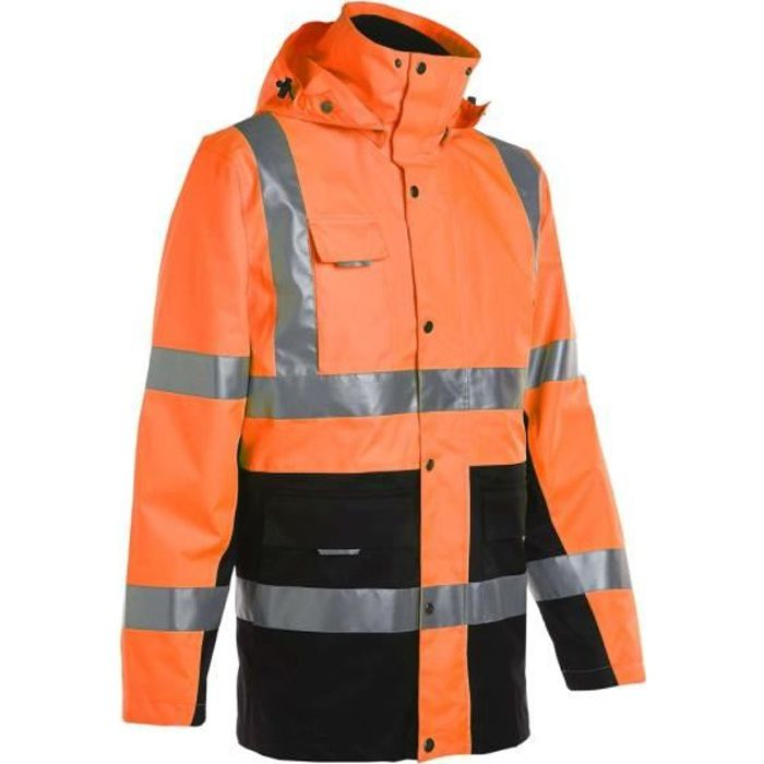 PARKA DE TRAVAIL HAUTE VISIBILITÉ WELLINGTON ORANGE FLUO - NORTH WAYS