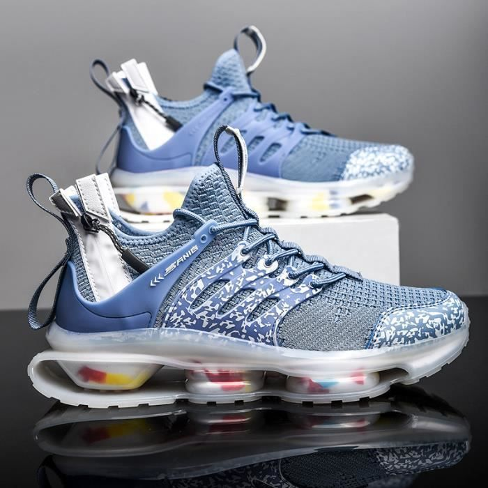 Bleu Baskets Homme-chaussures de sport