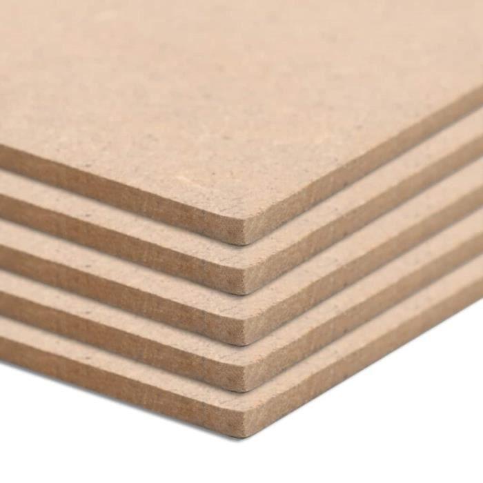 MEUBLE BEST® Plaques de MDF 5 pcs Rectangulaire 120x60 cm 2,5 mm5769