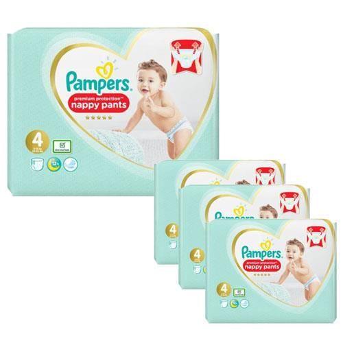 Pampers - 266 couches bébé Taille 4 premium protection pants