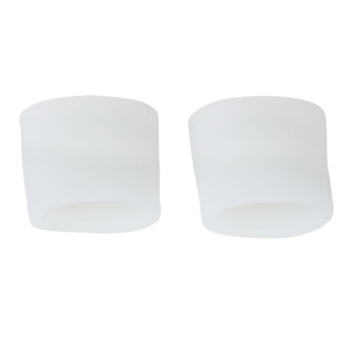 Paire de Protecteurs Séparateurs Gel Toe pour Oignons Blisters Corns (Blanc)