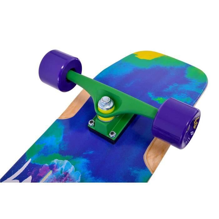 Longboard STREET SURFING dble kick freeride roadblast31'' 31 Blanc