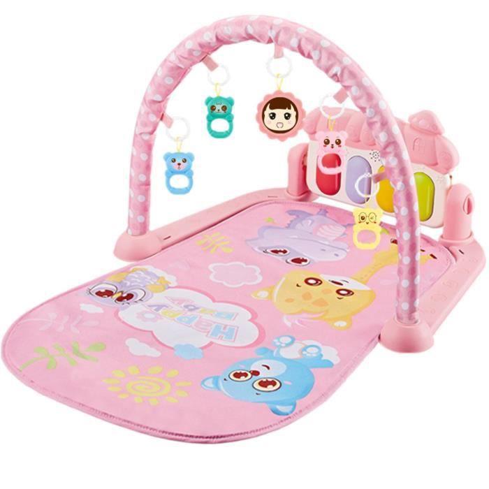 Tapis d'éveil de jeu pour bébé avec Musique et Lumières jouet éducatif Rose