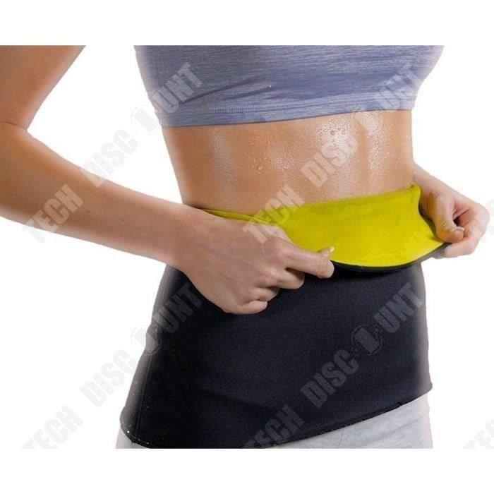 TD® Ceinture de Force Sauna-Ceinture Minceur de Taille Brûle graisses, Calories Ventre perdre du poids XL