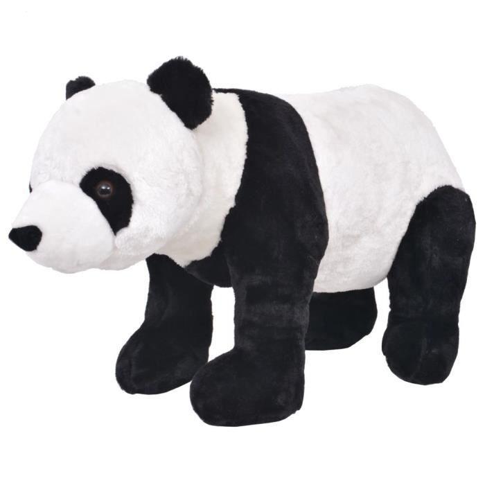 Jouet en peluche panda noir et blanc xxl - Achat / Vente jeux et jouets pas chers