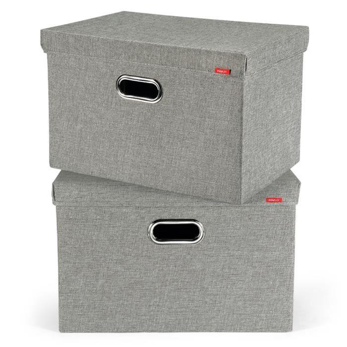 Nouveau Argent Sequin Pliable Boîte de rangement avec couvercle pliant Accueil Organisateur Cube