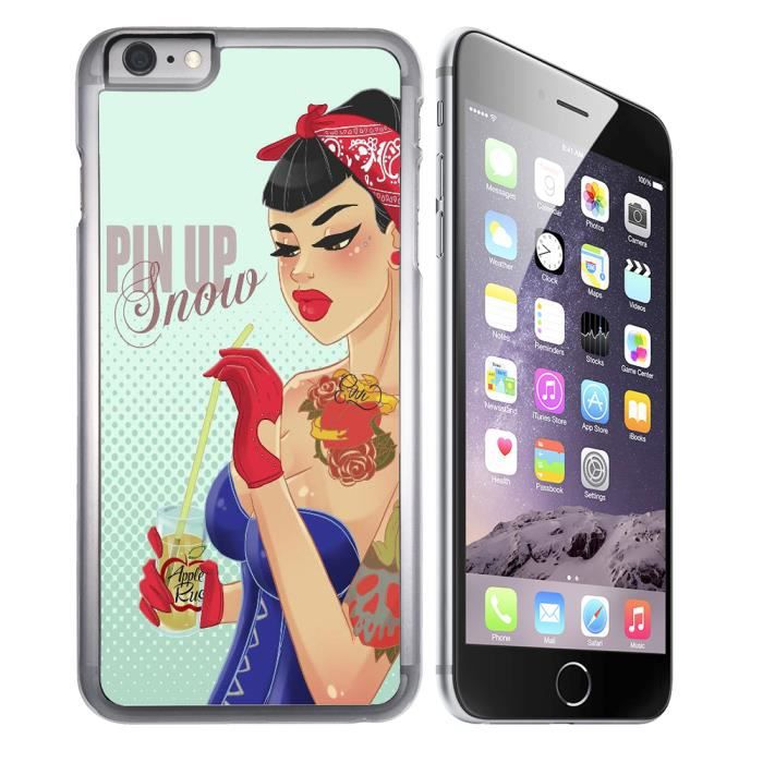 coque iphone 8 princesse blanche neige pin up