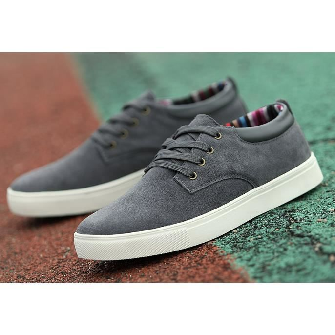 Casual chaussures Hommes chaussures de sport des Hommes skateboard chaussures, gris 44