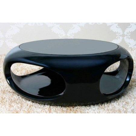 Table basse design noir laqu verseau achat vente - Table basse noire design ...