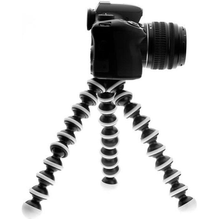 Support de tr/épied en m/étal Flexible Universel Mini Portable pour Appareil Photo num/érique Mini DV Projecteur Accessoire de Voyage Noir