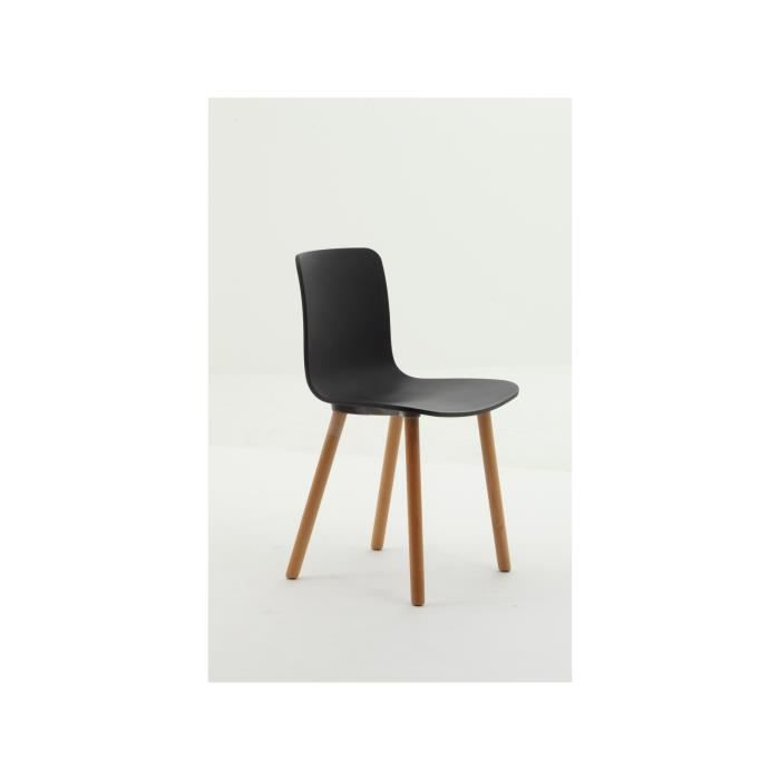 Chaise design scandinave noire achat vente chaise for Achat chaise design