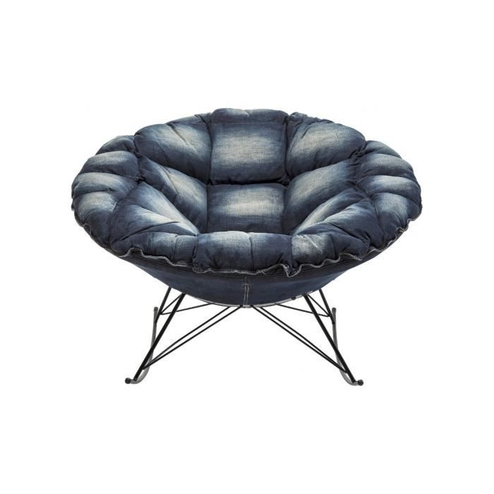 fauteuil a bascule ufo jeans kare design achat vente fauteuil cdiscount. Black Bedroom Furniture Sets. Home Design Ideas