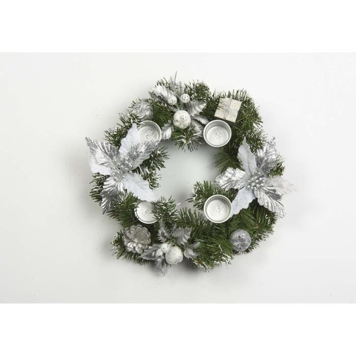 Grande main décoré cœur blanc perles suspendus Couronne mur décoration de porte