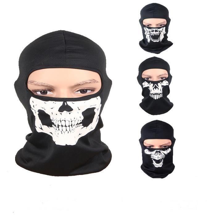 Bandana Pirate Crâne Tête de Mort Skull Echarpe Foulard Tour de Cou Motard Biker