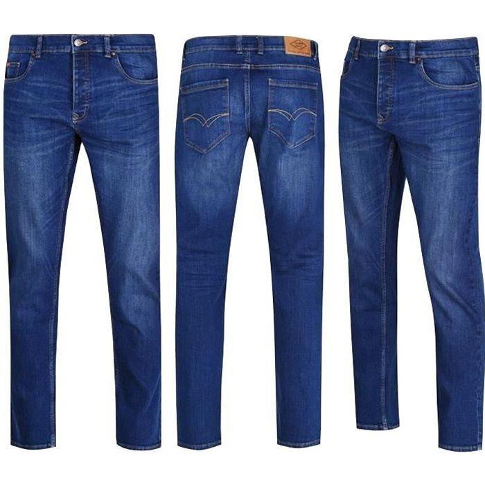 adidași cel mai bine vândut special pentru pantofi LEE COOPER Jean Homme Stone Wash - Coupe droite - Bleu - Achat ...