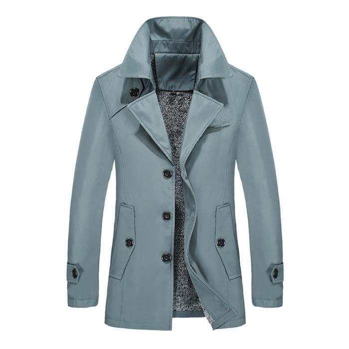 Manteau Homme Uni Longue Blouson Veste Elégant Style