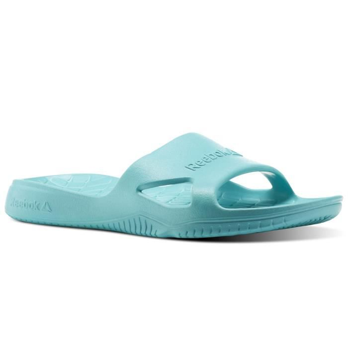 online store 0b98e ca8a7 BASKET Reebok Kobo H2out BS9917 Femme Tongs turquoise