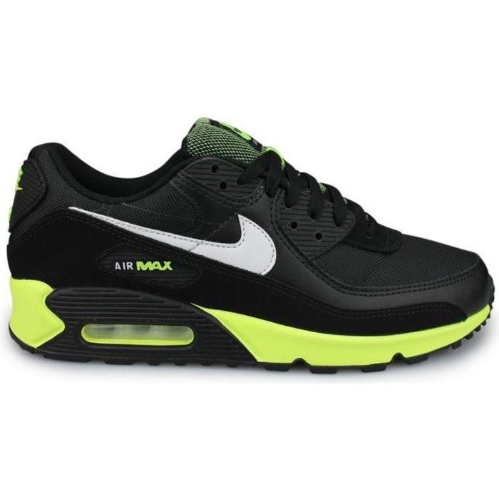 Nike Air Max 90 Noir ''Hot Lime'' (42) Noir - Cdiscount Chaussures