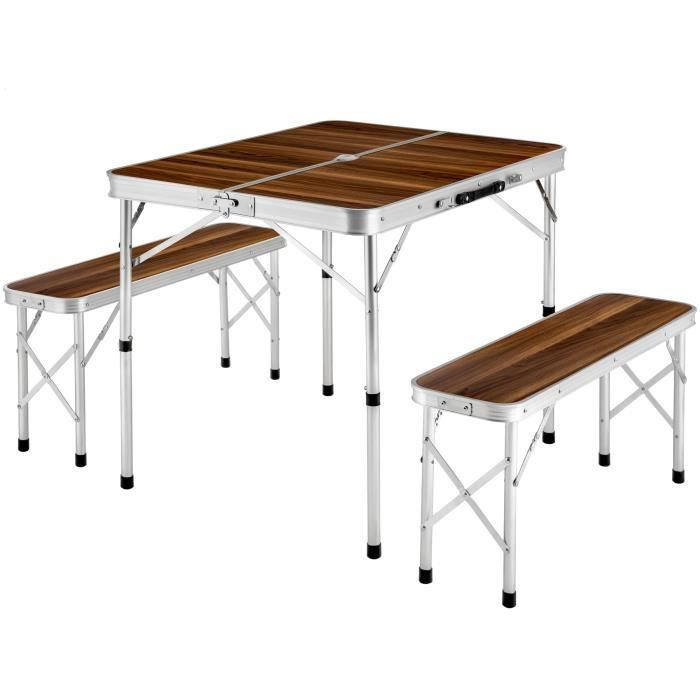Tectake Table Pliante De Camping Valise 91 Cm X 67 5 Cm X 70 5 Cm