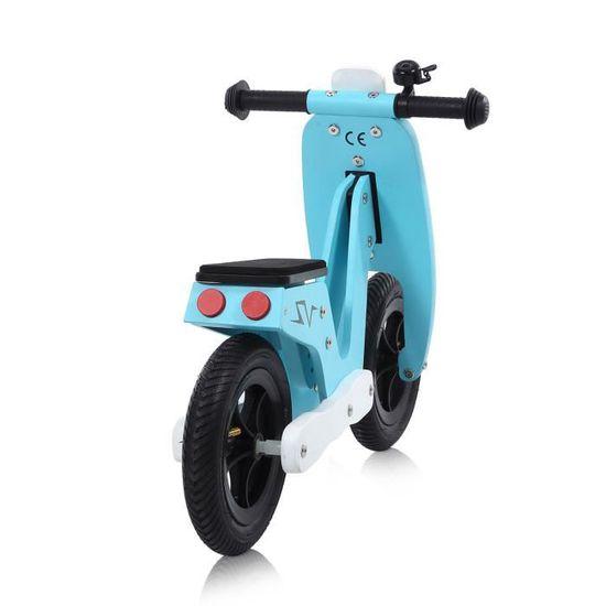 Baby Vivo Balance Bike Draisienne pour Enfants Draisienne v/élo de Marche sans p/édales pour Enfants Bicycle de Balance pour d/évelopper l/équilibre pneus EVA 10 Pouces Capri Bleu