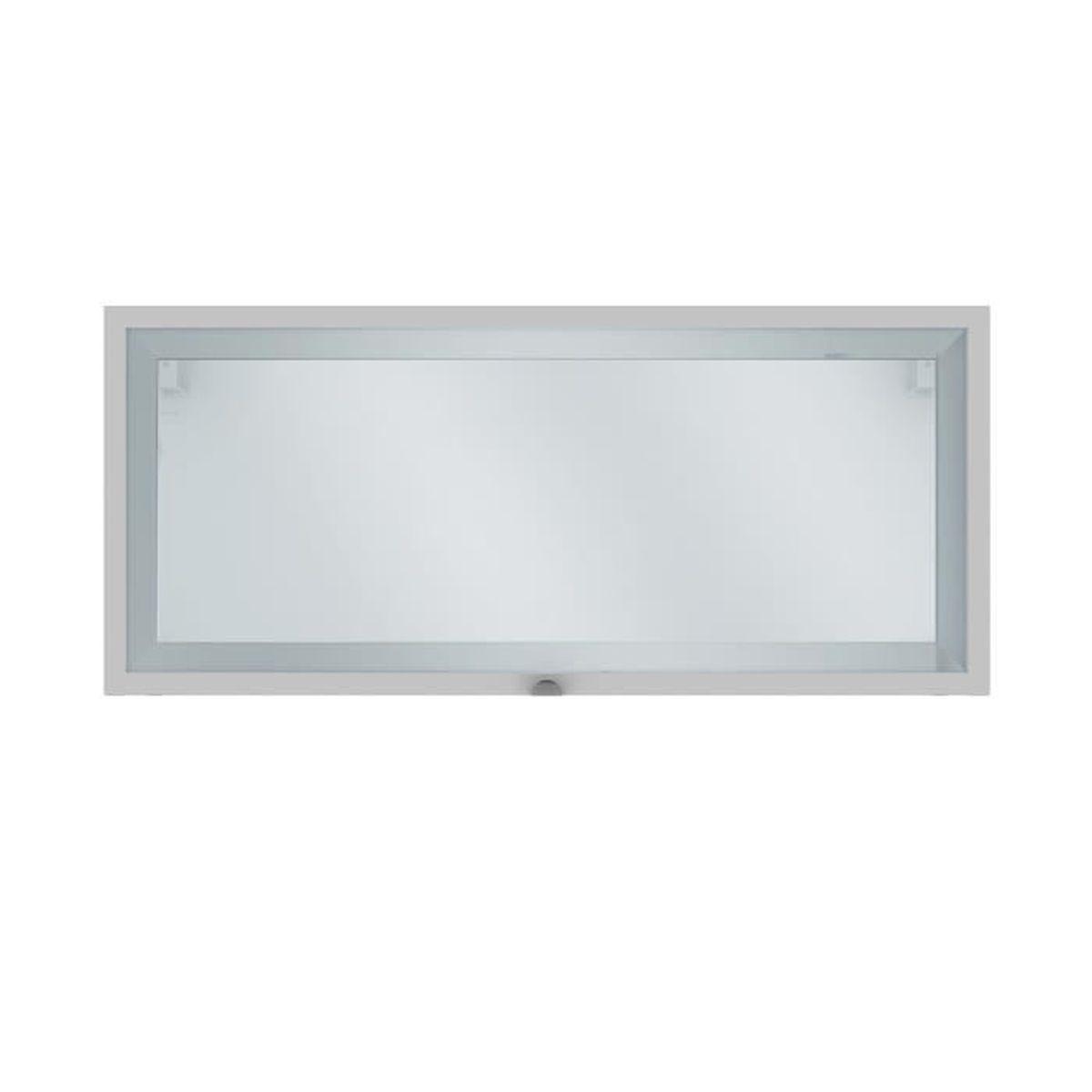 Elia Meuble de cuisine haut court 12 porte vitrée blanc 12cm