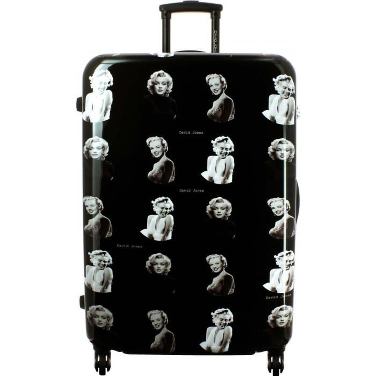 valise rigide david jones 75cm marilyn monroe ba20531g achat vente valise bagage. Black Bedroom Furniture Sets. Home Design Ideas