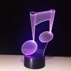 LAMPE A POSER 3D illusion Visual Night Light 7 Colors Change LED