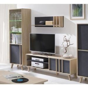 Bibliotheque murale design achat vente bibliotheque for Meuble tele etagere
