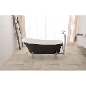 BAIGNOIRE - KIT BALNEO Baignoire design - bi colore blanc - noir - 160x72