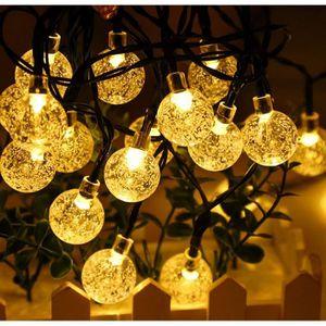 Guirlande Lumineuse Piles Ext/érieur 5M 50 Petites Ampoules Blanc chaud IP44,8 modes d/éclairage,Guirlande D/écorative pour F/ête Mariage No/ël Nouvel an